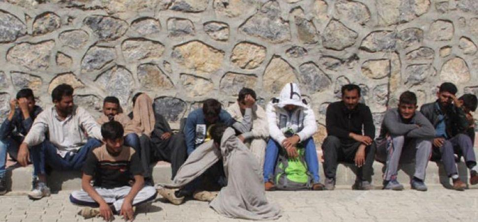 Başkale\'de 14 Kaçak göçmen yakalandı.