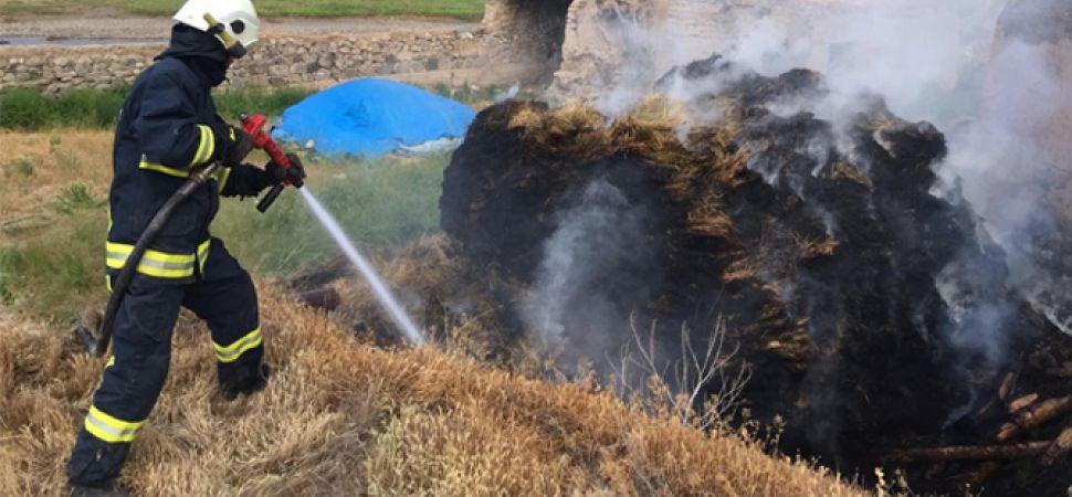 Başkale\'de 3 bin 200 bağ ot yandı.