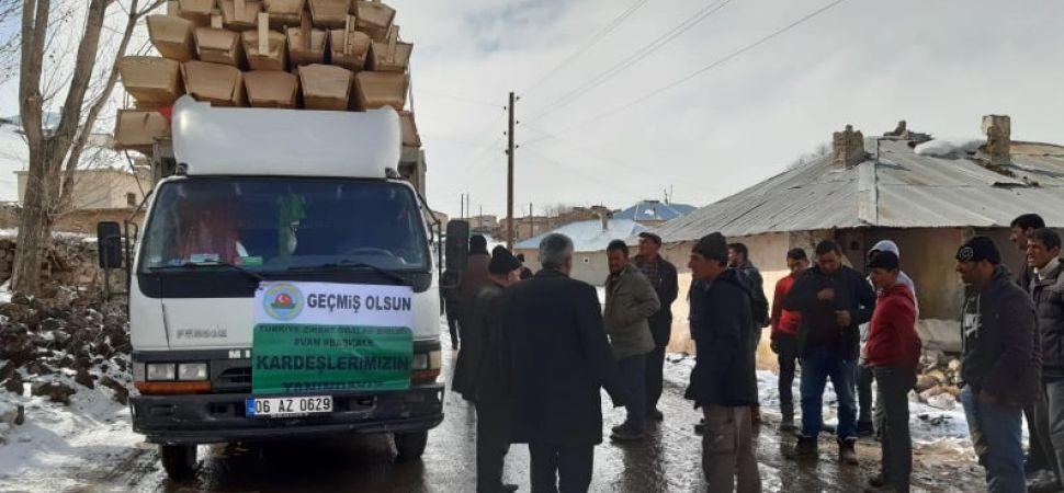 TZOB Deprem Bölgesine 300 adet yemlik gönderdi