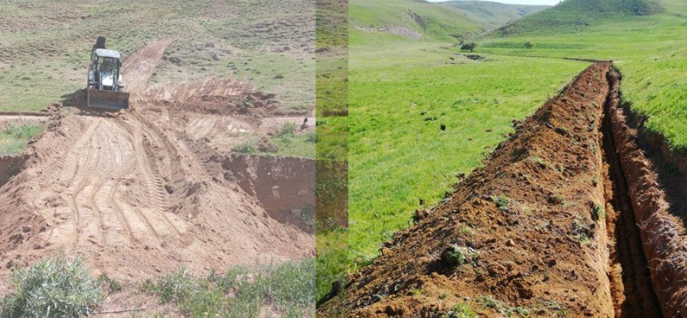 Başkale Belediyesi Tarımsal Sulama Kanallarını Açıyor