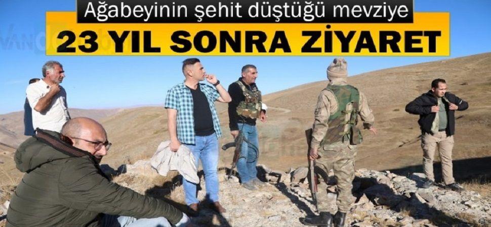 Şehit askerin ağabeyi, Başkale'de o mevzii ziyaret etti