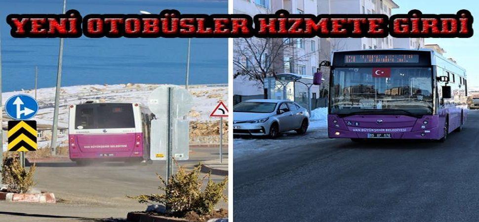 Edremit'te, yeni otobüsler halkın hizmetinde…