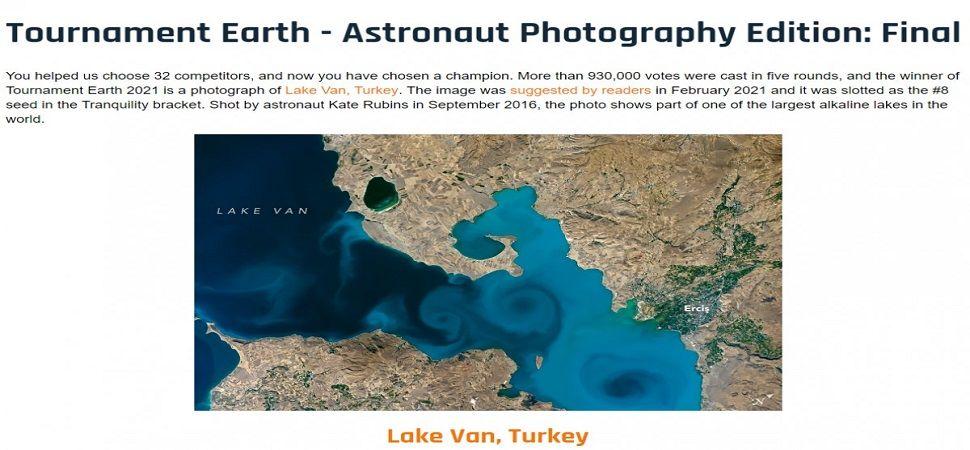 NASA yarışmasında Van Gölü fotoğrafı birinci oldu