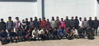 Başkale 'de 65 Kaçak göçmen yakalandı.