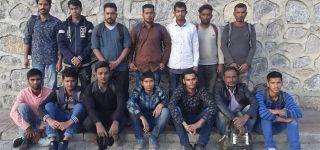 Başkale 'de 14 Kaçak göçmen yakalandı.