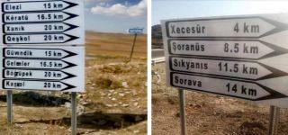 Başkale'de Türkçe-Kürtçe yön tabelaları yenilendi
