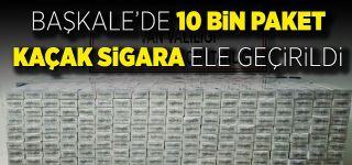 Başkale'de 10 bin paket gümrük kaçağı sigara ele geçirildi