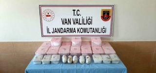 Başkale'de 34 kilo uyuşturucu madde ele geçirildi